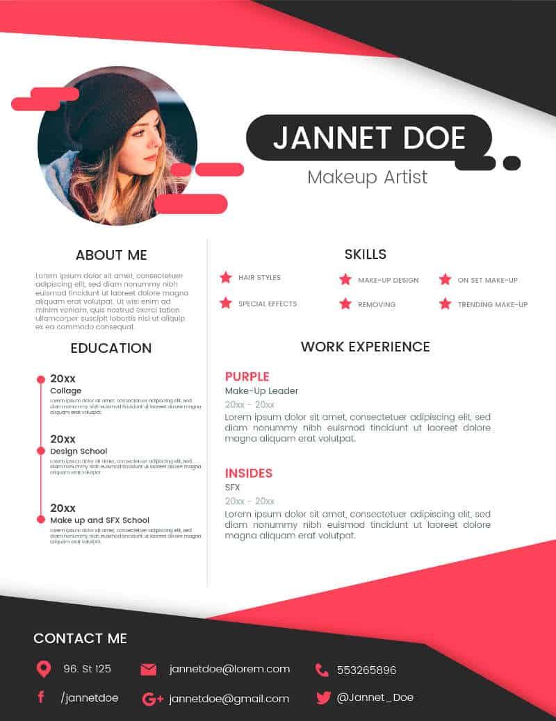 Exemplu CV MakeUp Artist